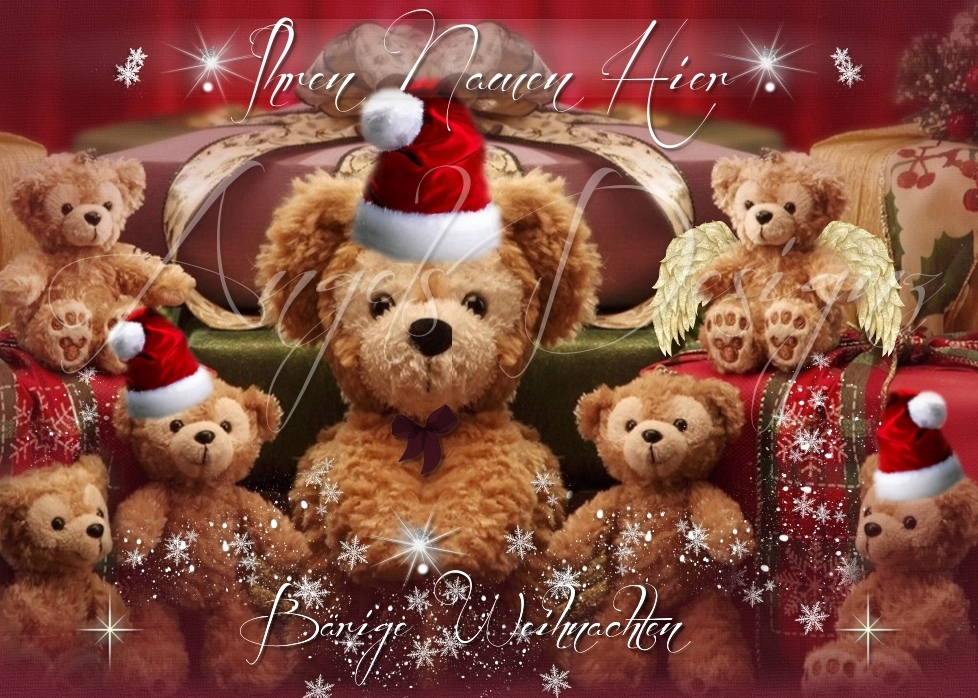 auktionsvorlage teddyb ren b rige weihnachten pr sentation. Black Bedroom Furniture Sets. Home Design Ideas